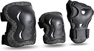JBM Kids & Adults Knee and Elbow Pads with Wrist Guards Protective Gear Set, Impact Resistance for your Children Outdoor A...
