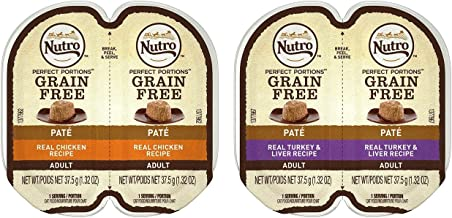 product image for Nutro Feed Clean Grain Free Soft Loaf Cat Food 2 Flavor 8 Can Variety Bundle, (4) Each: Turkey & Liver, and Chicken - 2.6 Ounces (8 Cans Total)