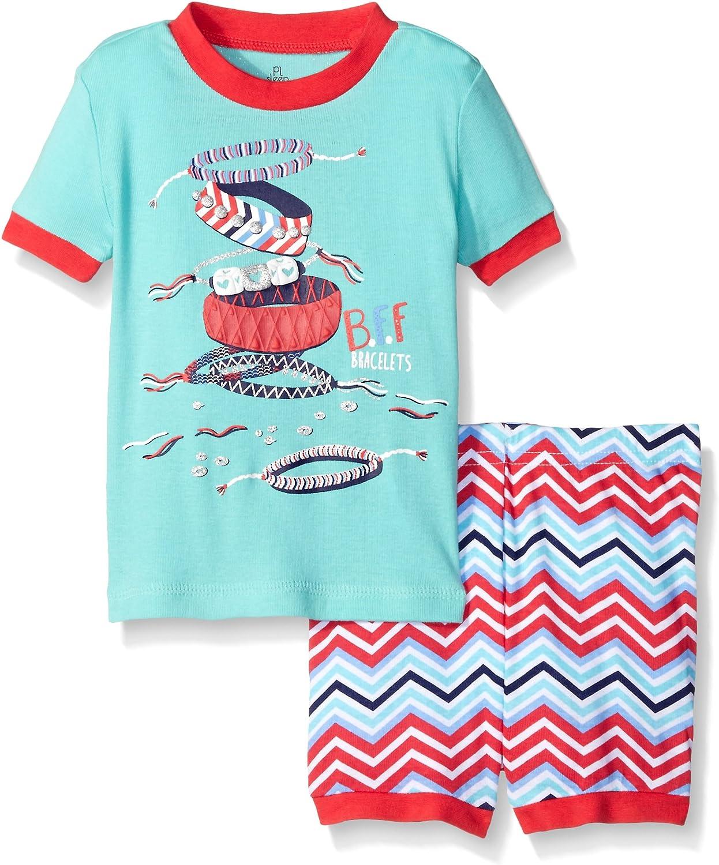 Petit Lem Baby Girls' 2 Piece Short Sleeve Top and Short Pajama Set-Fashionista