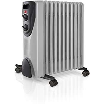 AEG RA 5522 - Radiador de aceite, 2200 W, 11 elementos, termostato, 3 niveles de potencia, regulador de potencia para un bajo consumo: Amazon.es: Hogar