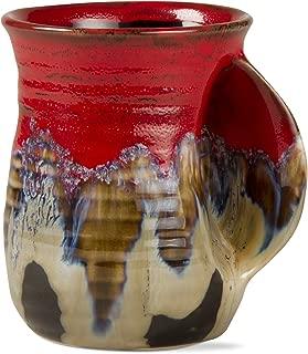 tag - Reactive Glaze Hand Warmer Mug, Beautiful Glove-Like Mug to Help Keep Your Hands Toasty, Red & Black (22 Ounce)