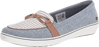 Grasshoppers womens Windsor Knot Braid Textured Stripe Sandal, Chambray Blue, 7.5 Wide US
