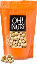 Oh! Nuts Oven Roasted Macadamia Nuts | Dry-Roast, Unsalted, & Gluten-Free | All-Natural, Additive-Free Healthy Snack | Large-Sized, No Oil Keto Snacks in Resealable 1-Pound Bag for Extra Freshness