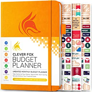Clever Fox Budget Planner - Expense Tracker Notebook. Monthly Budgeting Journal, Finance Planner & Accounts Book to Take C...