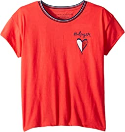 Tommy Hilfiger Kids - Left Chest Heart Tee (Big Kids)