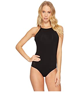 Parallels High Neck One-Piece