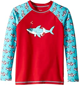 Snorkeling Sharks Long Sleeve Rashguard (Toddler/Little Kids/Big Kids)