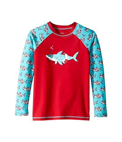 Hatley Kids Snorkeling Sharks Long Sleeve Rashguard (Toddler/Little Kids/Big Kids) (Red) Boy