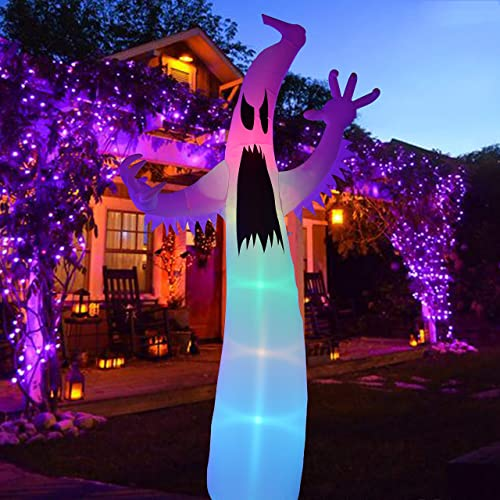 discount Twinkle Star popular Halloween Inflatable online sale 12FT Ghost with LED RGB Color Changing Light Indoor Outdoor Yard Lawn Party Decoration outlet sale