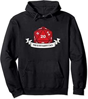 RPG D20 This Is My Happy Face | Tabletop Role Playing Game Pullover Hoodie