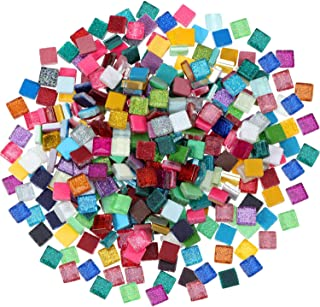 ad7a989e40 Chengu 400 Piece  300 g Assorted Colors Mosaic Tiles Glitter Crystal Mosaic  Home Decoration for