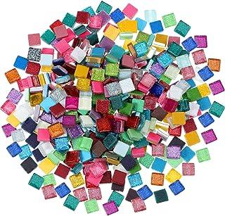 400 Pièces/ 300 g Carreaux de Mosaïque Couleurs Assorties Briller Cristal Mosaïque Décoration de la Maison pour DIY Fourni...