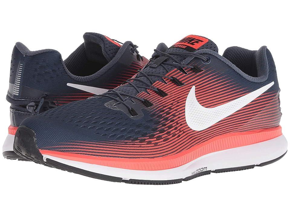 Nike Air Zoom Pegasus 34 FlyEase (Thunder Blue/White/Bright Crimson/Black) Men