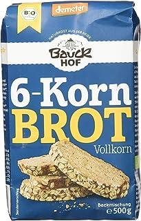 Bauckhof 6-Korn-Brot Vollkorn Demeter, 6er Pack 6 x 500 g