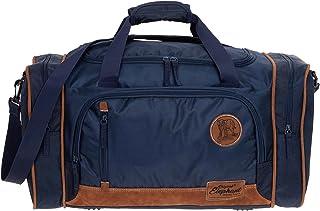 Reisetasche Herren Damen Elephant Travel 55 cm groß Handgepäck Sporttasche 5071  Koffergurt Blue Dunkelblau