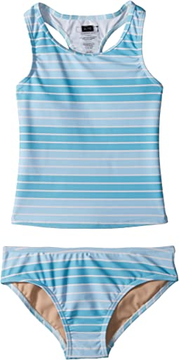 Toobydoo - Aqua Stripe Tankini (Infant/Toddler/Little Kids/Big Kids)