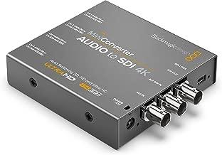 Blackmagic Design Mini Converter Audio to SDI 4K Active Video Converter - Conversor de vídeo (3840 x 2160 Pixeles, 525i,625i,720p,1080i,1080p,2160p, Active Video Converter, Gris, BNC, BNC)