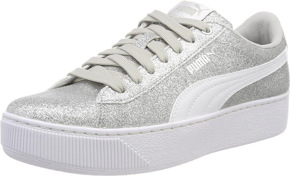 Puma vikky platform glitz jr, scarpe da ginnastica basse bambian/ragazza 366856