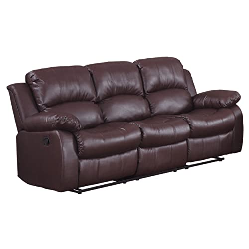Leather Recliner Sofas Amazon Com
