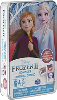 Spin Master Games Disney Frozen 2 Dominoes Game Set in Storage Tin, for Families and Kids Ages 4 & Up
