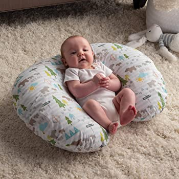 Boppy Original Nursing Pillow and Positioner, North Park, Cotton Blend Fabric with allover fashion
