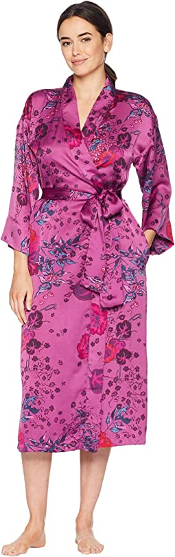 Impressions Printed Silky Satin Robe