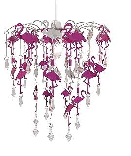 Abat Jour Pour Chambre Du0027enfant Avec Formes Découpées Motif Flamant Rose,  Sirène