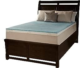 Simmons Beautyrest ComforPedic Loft from Beautyrest 2-inch Flat Gel Memory Foam Mattress Topper Queen