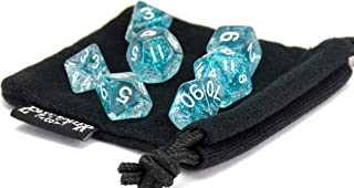 Polyhedral Dice Set | Teal Sparkle | 7 Piece | PRISTINE Edition | FREE Carrying Bag | Hand Checked Quality