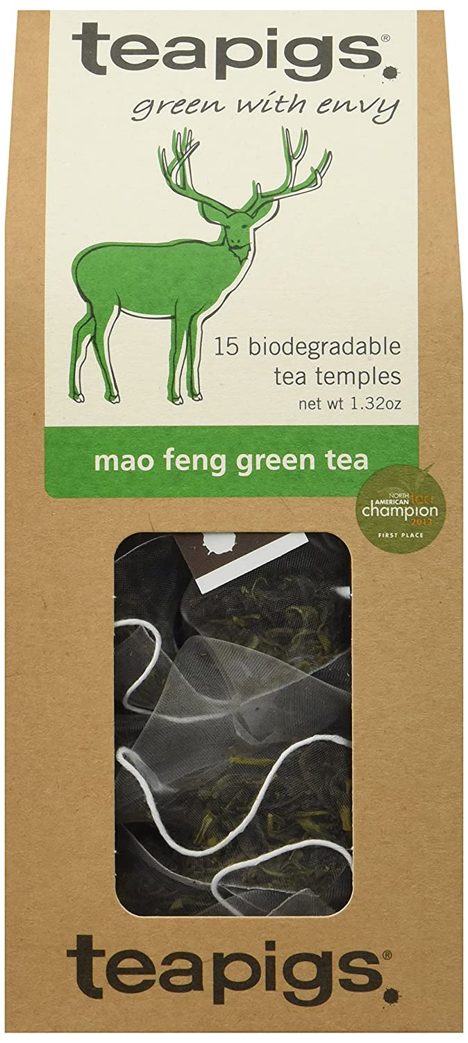 teapigs Mao Feng Fashion Green Tea Fort Worth Mall Count of Pack 15 6