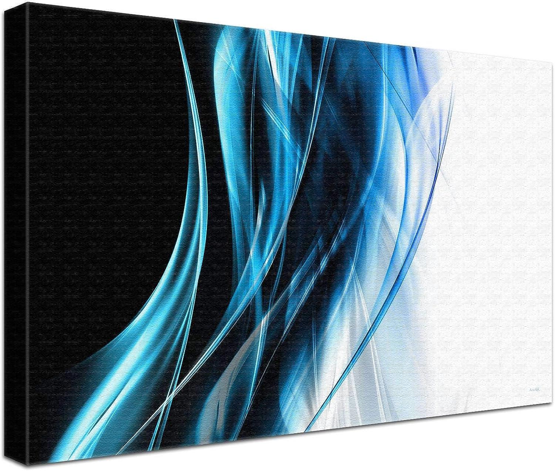 LANA KK Luxus Luxus Luxus Ausführung Seele Blau  Abstraktes Design auf 4cm Echtholz, Blau, 100 x 70 cm B074SZ6Y2G | Ästhetisches Aussehen  3802e2