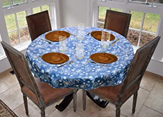 LAMINET Fanciful Flowers Vinyl Table Cover