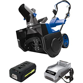 Snow Joe iON21SB-PRO 40-Volt iONMAX Cordless Brushless Single Stage Snow Blower Kit | 21-Inch | W/ 5.0-Ah Battery and Charger