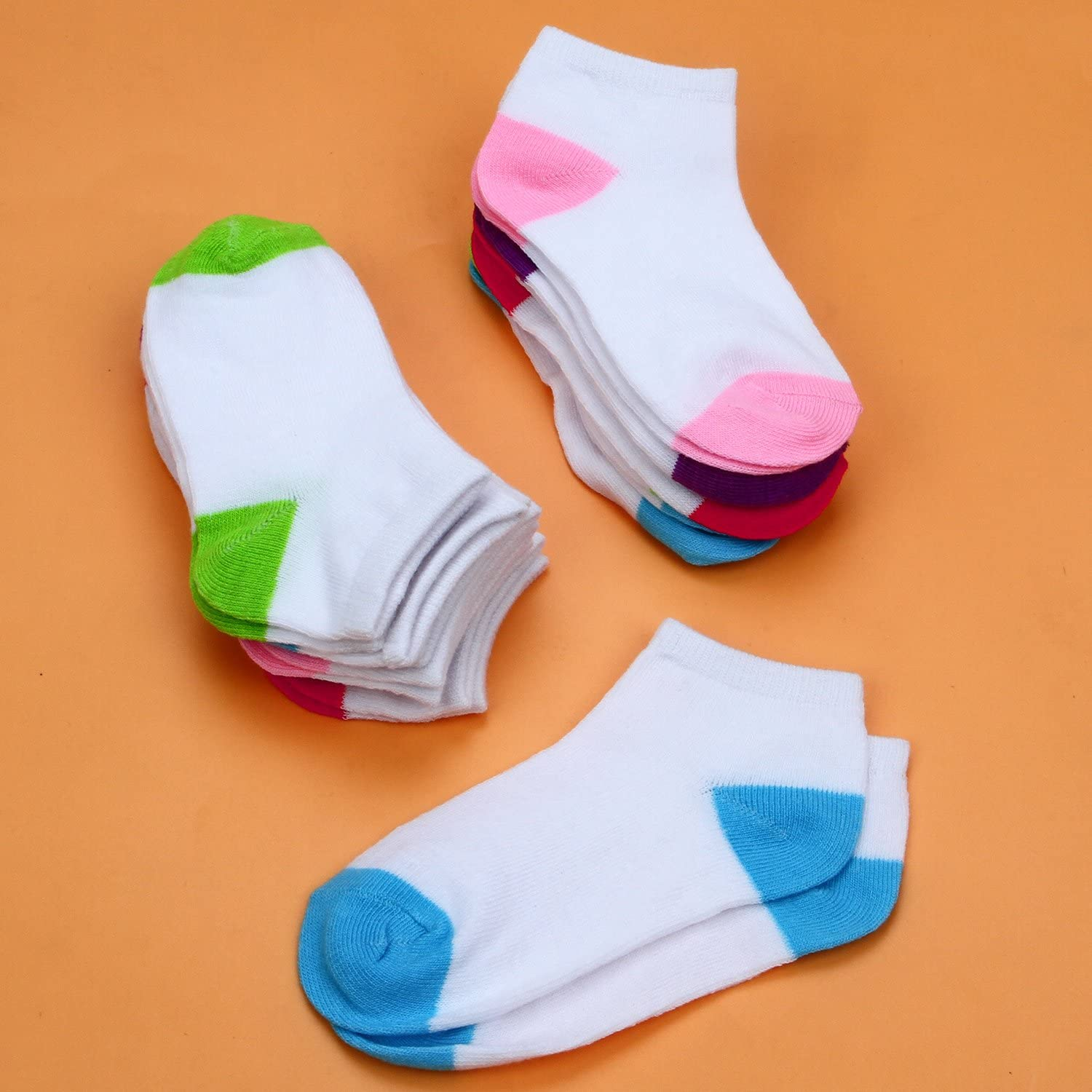 Cooraby/15/Pairs/Toddler/Kids/Half/Cushion/Low/Cut/Socks/Boys/Girls/Ankle/Cotton/Socks