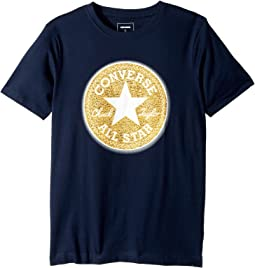Converse Kids Chenille Chuck Patch Tee (Big Kids)