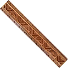 "product image for 12"" Solid Wood Architectural Ruler - Maze - Made in USA"