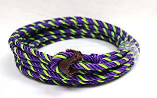 39 Ft. SOGA para FLOREAR Purple/Green Western Nylon Trick Rope