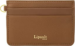 Plume Elegance Leather Card Holder