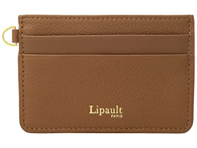 Lipault Paris Plume Elegance Leather Card Holder (Cognac) Credit card Wallet