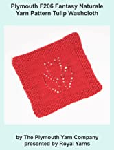 Plymouth F206 Fantasy Naturale Yarn Pattern Tulip Washcloth (I Want To Knit)