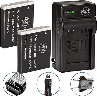 BM Premium Pack of 2 NB6L, NB-6L, NB-6LH Batteries And Charger Kit For Canon PowerShot S120, SX170 IS, SX260 HS, SX280 HS, SX500 IS, SX510 HS, SX530 HS, SX540 HS, SX600 HS, SX610 HS, SX700 HS, SX710 HS, ELPH 500 HS, D10, D20, D30 Digital Camera