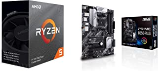 ASUS AMD B550搭載 AM4 対応 マザーボード PRIME B550-PLUS + AMD Ryzen 5 3600 with Wraith Stealth cooler 3.6GHz 6コア / 12スレッド 35MB 65W【国...