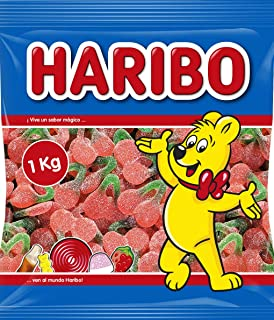 Haribo - Cerezas con azúcar super - Caramelo de goma - 1 kg
