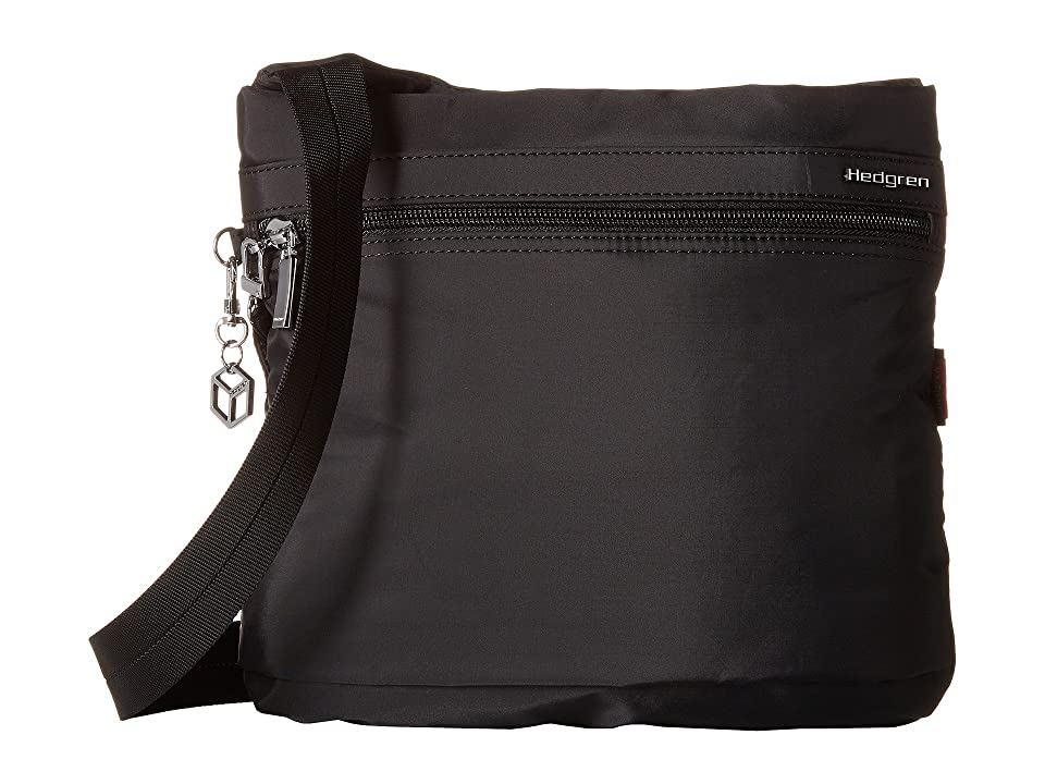 Hedgren Faith RFID Crossbody with Safety Hook (Black) Cross Body Handbags b0f7c7855a353