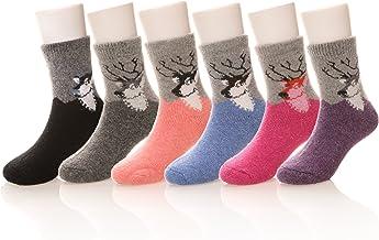 Eocom 6 Pairs Children`s Winter Warm Wool Socks Kids Boys Girls Socks