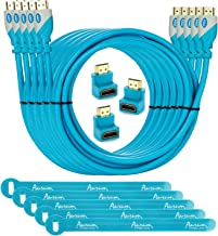 Aurum Pro Series - Pack of 5 High Speed HDMI Cable (12 Ft) with Ethernet - Supports 3D & Audio Return Channel [Latest Version] - 12 Feet - With Three 90 Degree Angle Adapter and Velcro Cable Ties - 5 Pack