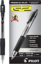 PILOT G2 Premium Refillable & Retractable Rolling Ball Gel Pens, Extra Fine Point, Black Ink, 12 Count (31002)