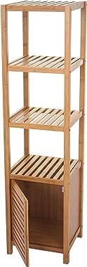 Mendler Arredo Bagno Serie HWC-B18 Legno Bambu a listelle Mobile con sportello 140x36x34cm