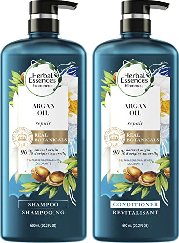 Herbal Essences, Repairing Argan Oil Of Morocco Shampoo and Conditioner set With Natural Source Ingredients, Color Sa...