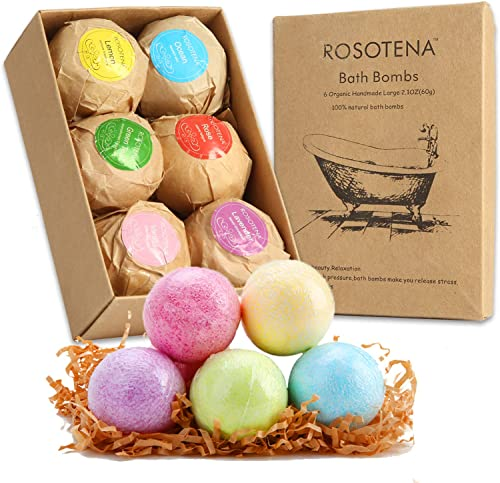 discount Bath Bombs Gift Set - online sale 6Pack Handmade Natural Bath Bombs with high quality Organic Shea Butter,with Salts, Clays and Essential Oils by Soothing Waters Spa for Women, Moms, Girlfriend, Birthdays and Bridal Showers online sale